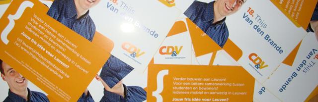 Gele briefkaarten in Leuven