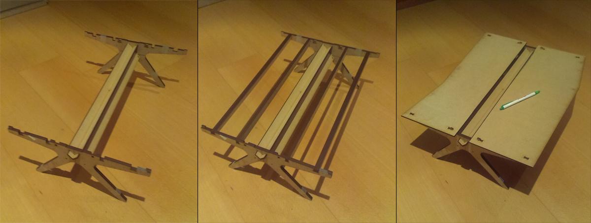 Een open source bureautafel: schaalmodel geslaagd!