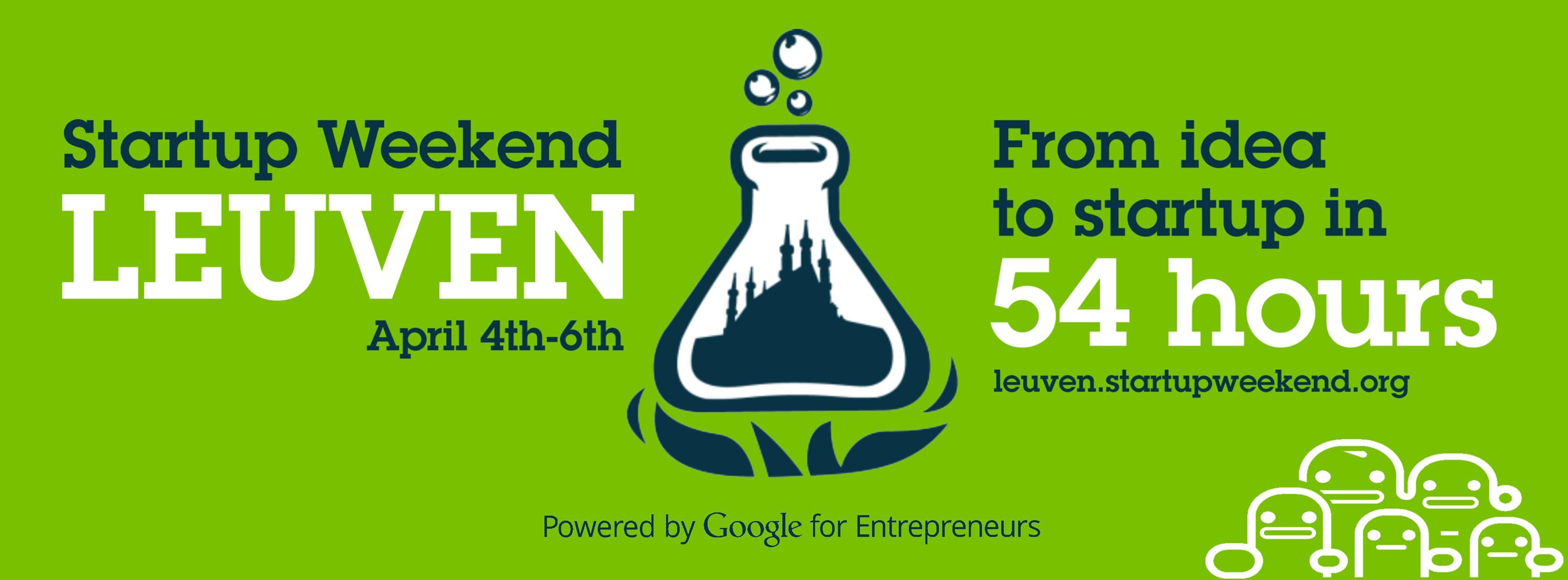 Nog 6 dagen tot het eerste Startup Weekend Leuven